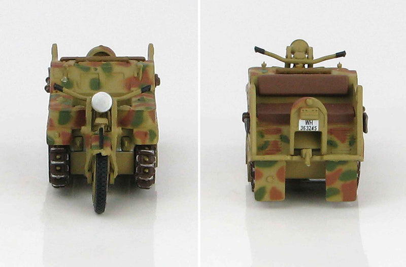 Sd. Kfz. 2 Kleines Kettenkrafrad 1942 1:48 Scale Diecast Model By Hobby Master Front And Back View