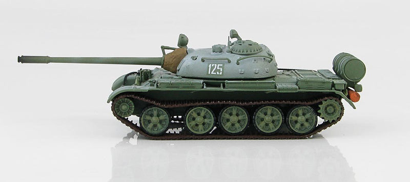 T-55 Medium Tank Soviet Army 1970's Winter Camouflage 1:72 Scale Diecast Model By Hobby Master Left Side View