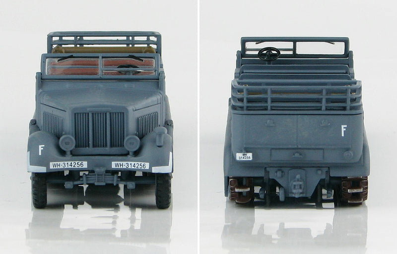 Sd KFz 7 8-Ton Half Track 1942 1/72 Scale Model By Hobby Master Front & Rear View