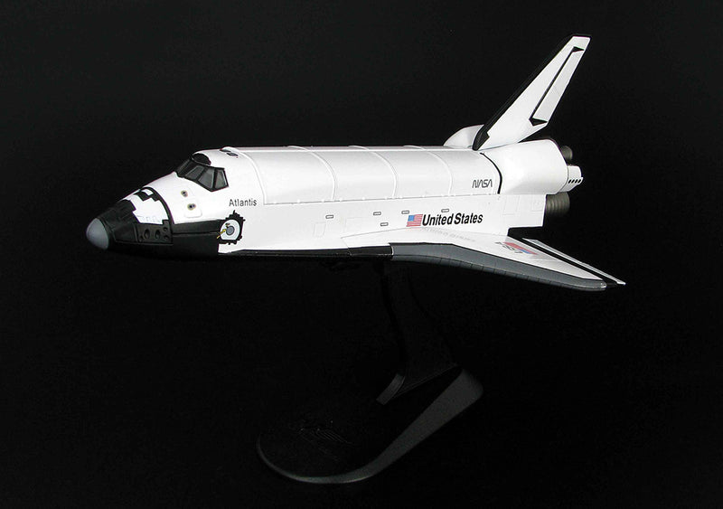 Space Shuttle Atlantis 1:200 Scale Model on Stand