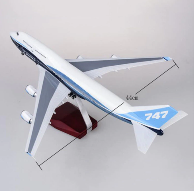Boeing 747-400  1:150 Scale Model With LED Light By Hyinuo Wingspan