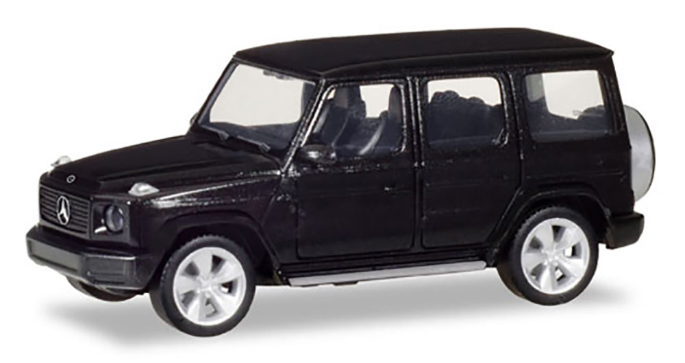 Mercedes Benz G Class Obsidian Black Metallic 1:87 (HO) Scale Model By Herpa