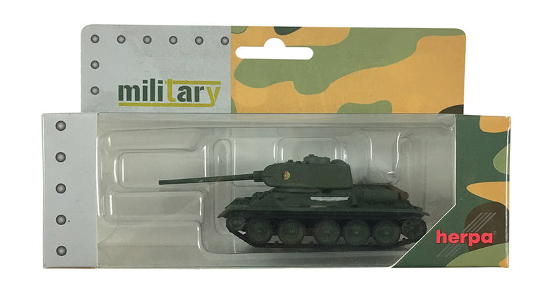 "T-34/85 Main Battle Tank German Democratic Republic National People's Army ""Nationale Volksarmee"" (NVA) (Olive Drab)  Scale 1:87 (HO Scale) Model By Herpa"