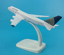 Boeing 747-400 United Airlines 1:400 Scale Model By Hyinuo Left Rear View