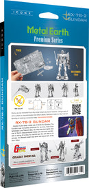RX-78-2 Gundam  Metal Earth Iconx Model Kit Back Of Package
