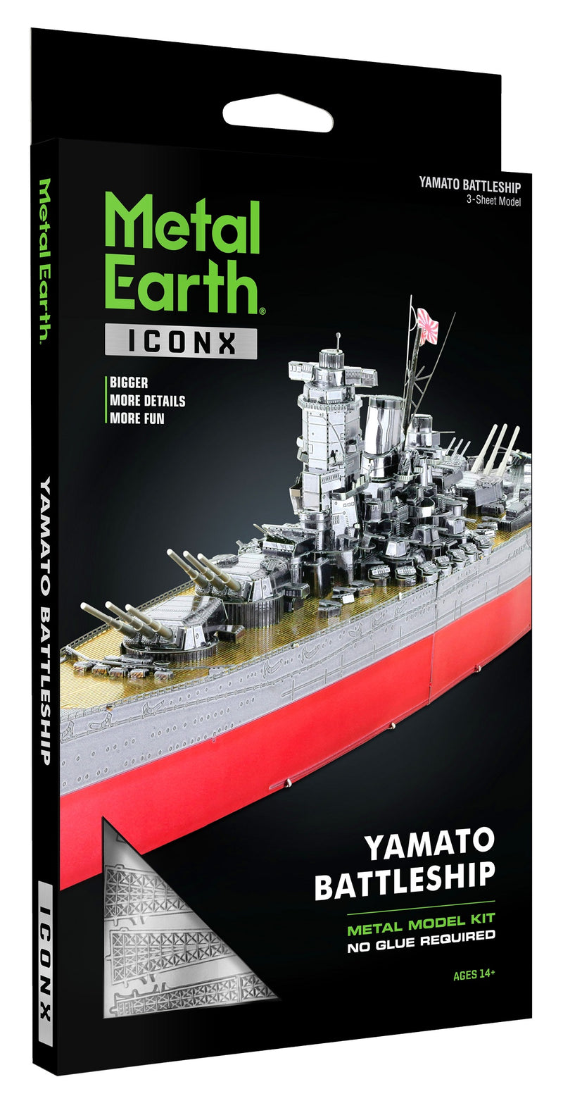 IJN Yamato Battleship Metal Earth Iconx Model Kit Box Front