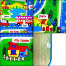 "Children's City Scene Play Mat 78"" x 63"" With Non-Slip Backing By Imiwei"