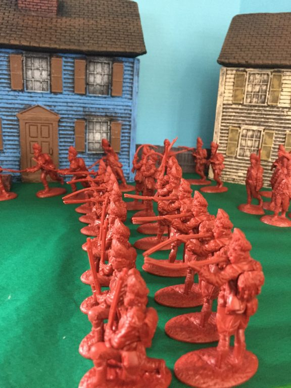 American War Of Independence British Grenadiers 1/30 Scale Model Plastic Figures