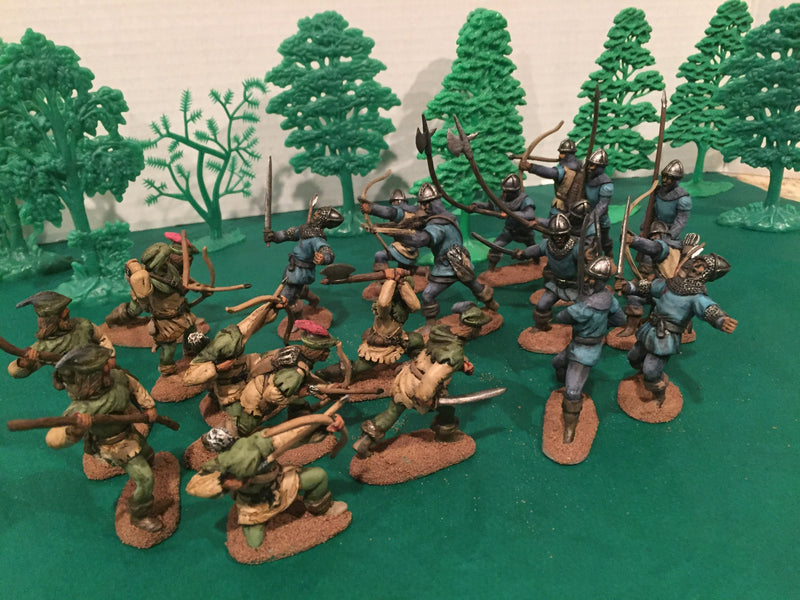 Robin Hood And His Merry Men 1/30 Scale Plastic Figures By LOD Enterprises Painted