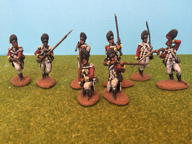 American War Of Independence British Grenadiers 1/30 Scale Model Plastic Figures By LOD Enterprises Painted
