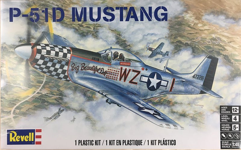 Revell P-51 Mustang 1/48 Scale Kit Box