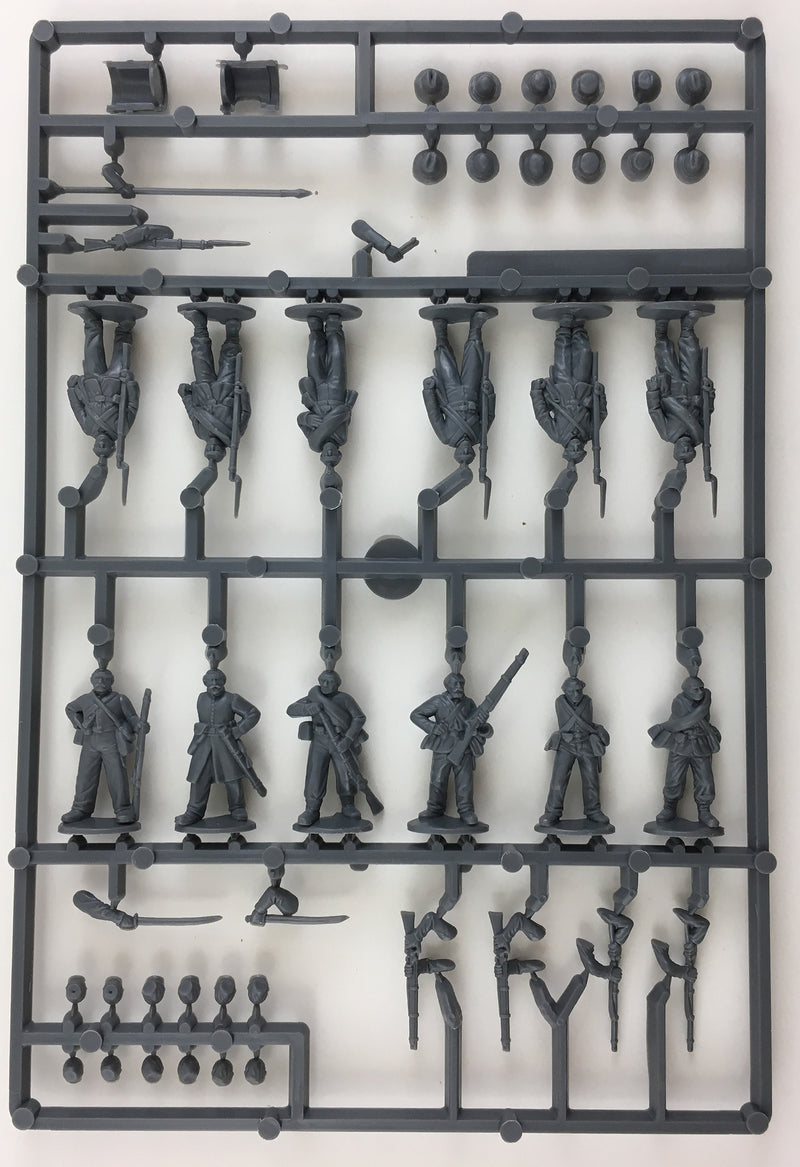 American Civil War Infantry 1861-1865 (28 mm) Scale Model Plastic Figures By Perry Miniatures Sample Sprue