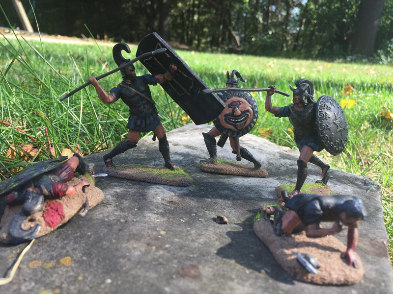 War At Troy Figure Set 3 Heroes Of The Iliad 1/30 Scale Plastic Figures By LOD Enterprises Painted Examples
