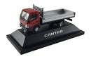 Mitsubishi Fuso Canter F E (Sterling 360) Small Utility Flat Bed (Red Cab) Scale 1:87 (HO Scale) Model By Promotex Display Stand