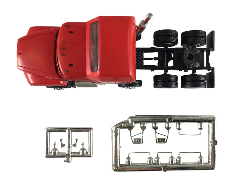 Mack 603/613 Truck – Lift Axle (Red)  Scale 1:87 (HO Scale) Model By Promotex Top View