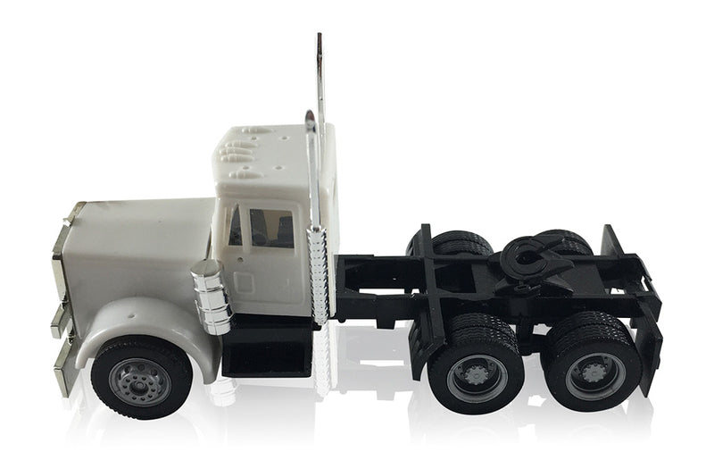 Peterbilt  Short Grill Tandem Axle Day Cab Tractor (Unpainted)1:87 (HO) Scale Model By Promotex Left Side View