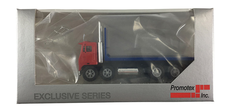 White Motor Co. Road Commander Twin Steer Flat Bed Truck 1/87 Scale (HO) Model by Promotex Box