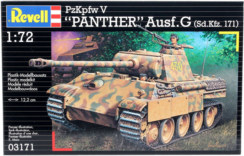 PzKpfw V Panther Ausf. G 1/72 Scale Model Kit Box Front