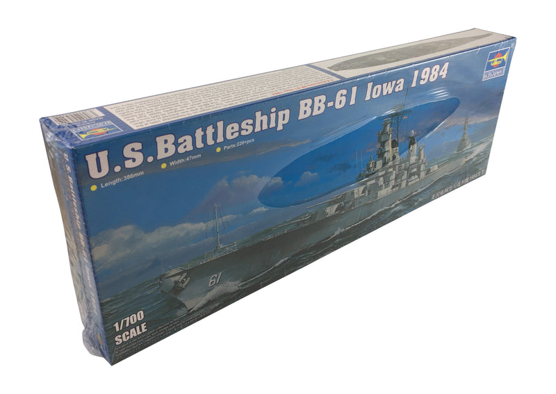 USS Iowa Battleship BB-61 1984, 1:700 Scale Model Kit By Trumpeter
