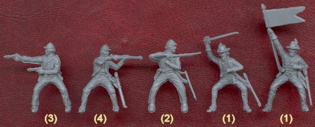 American Civil War Confederate Cavalry, 1/72 Scale Sample Figures