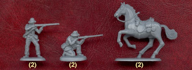 American Civil War Confederate Cavalry, 1/72 Scale Plastic Figures Examples
