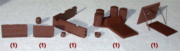 Napoleonic Wars Battlefield Accessory Set 1/72 Scale Gun Emplacement