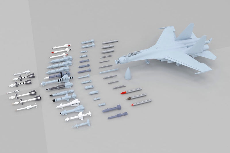 Sukhoi Su-35 Flanker E, 1:48 Scale Model Kit By Kitty Hawk