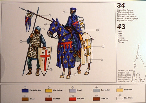 Crusaders 11th Century 1/72 Scale Plastic Figures Back Of Box