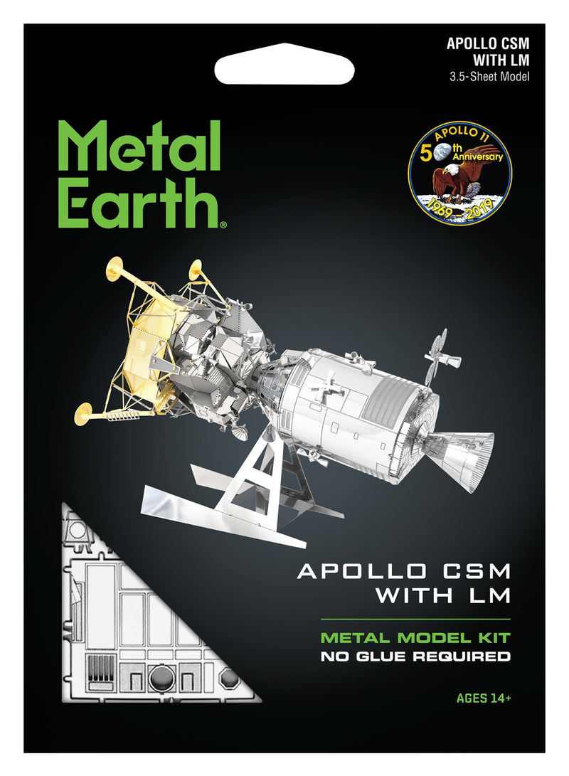 Apollo Command Service Module with Lunar Module Metal Earth Model Kit Front