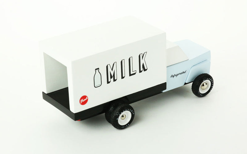 Milk Truck By Candylab Toys Right Rear View