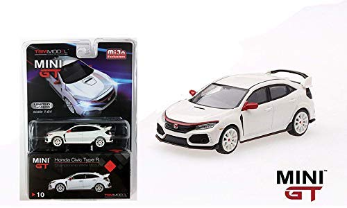 2017 Honda Civic Type R (Championship White) 1:64 Scale Diecast Car By Mini GT