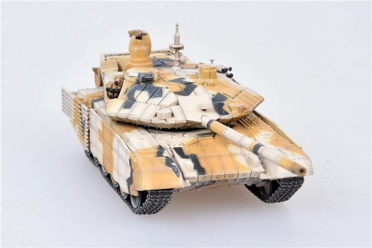 "T-90MS ""Tagil"" Main Battle Tank Russian Army Desert Camouflage 2014 1:72 Scale Diecast Model By Modelcollect Front View"