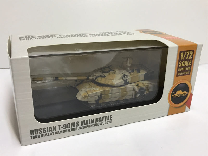 "T-90MS ""Tagil"" Main Battle Tank Russian Army Desert Camouflage 2014 1:72 Scale Diecast Model By Modelcollect Box"