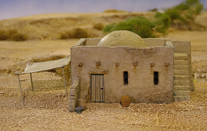 Mud Brick House for 28 mm Gaming With Accessories
