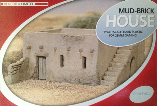 Mud Brick House for 28 mm Gaming By Renedra / Perry Miniatures