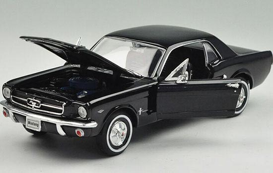 Ford Mustang 1964 1/2 (Black) 1:24-27 Scale Diecast Car