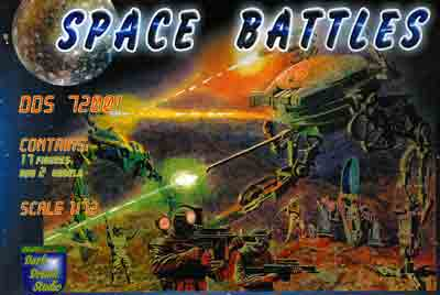 "Space Battles Walker Warmachine ""Armadill"" & Destroyer Cyborg ""Long Shadow"" W/ 17 Figures 1/72 Scale Model Kit by Orion Dark Dream Studio"