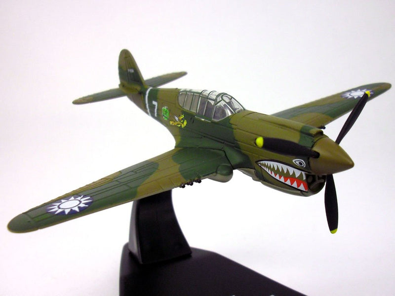 "Curtiss P-40E Warhawk ""Flying Tigers"", 1:72 Scale Model By Oxford Diecast"