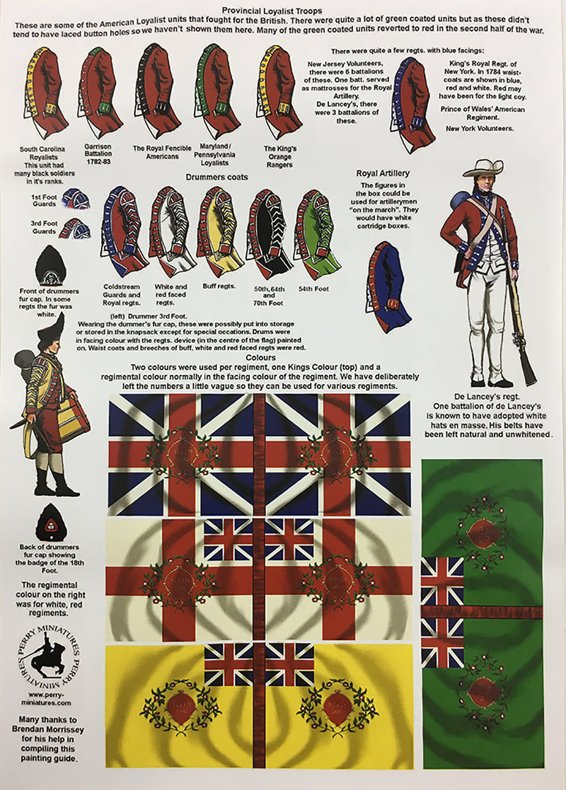 Perry Miniatures British Infantry 1775-1782 (28mm) Plastic Figures Kit Guide Page 1
