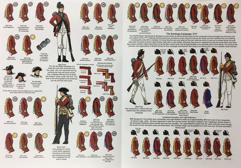 Perry Miniatures British Infantry 1775-1782 (28mm) Plastic Figures Kit Guide Page 2 & 3