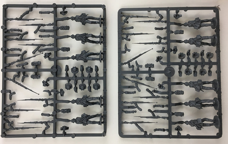 Perry Miniatures British Infantry 1775-1782 (28mm) Plastic Figures Kit Sample Sprue