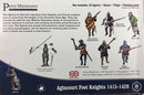 Agincourt Foot Knights 1415-1429, 28 mm Model Plastic Figures Kit By Perry Miniatures Box Back