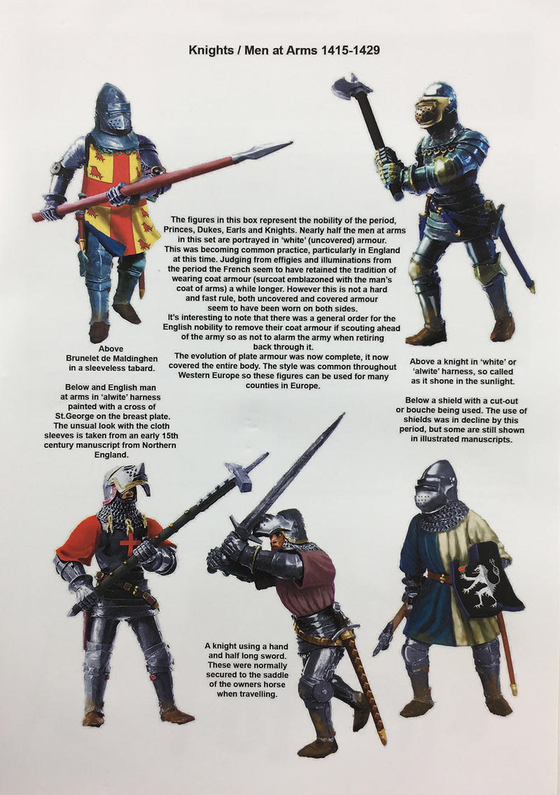 Agincourt Foot Knights 1415-1429, 28 mm Model Plastic Figures Kit By Perry Miniatures Guide Page 1