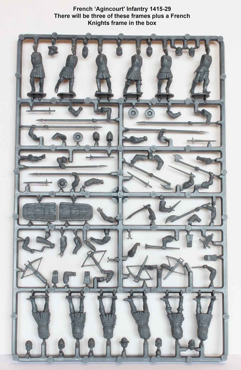 Perry Miniatures Agincourt French Infantry 28 mm Plastic Minatures Sprue Sample