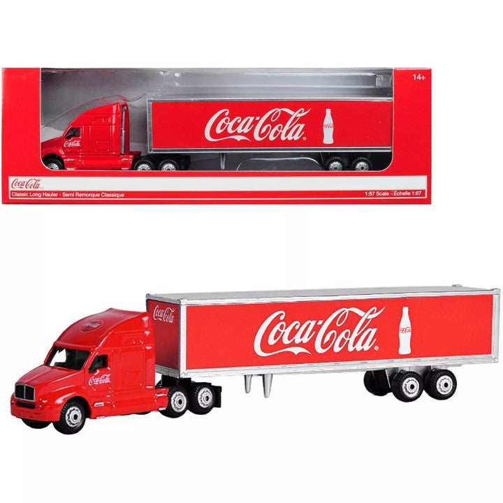 "Long Hauler Tractor Trailer ""Coca-Cola"" 1:87 Scale Diecast Model"