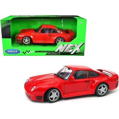 Porsche 959 (Red), 1/24 Scale Diecast Car By Welly