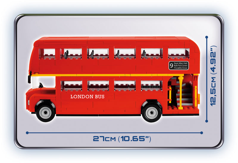 London Bus, Action Town 435 Piece Block Kit By Cobi Side View Dimensions