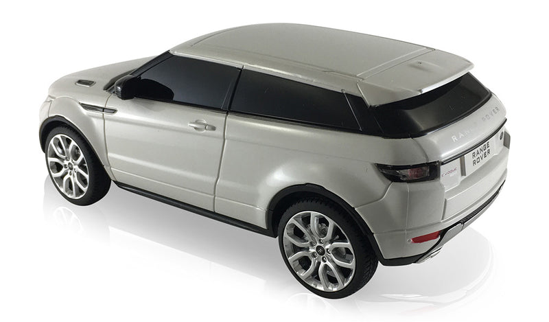 Rastar Land Rover Range Rover Evoque (White) 1/24 Scale RC Car Left Rear View