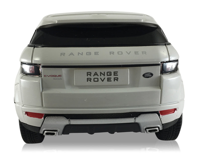 Rastar Land Rover Range Rover Evoque (White) 1/24 Scale RC Car Rear View