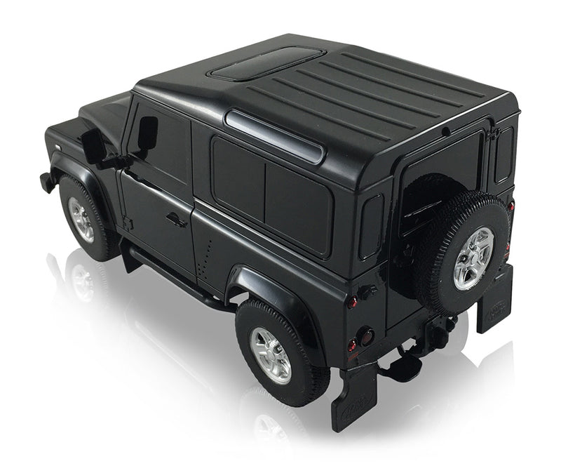 Rastar Land Rover Defender (Black) 1/24 Scale RC Model Left Rear View